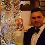 NATO Christmas Party Snowflake Vodka Ice Luge Ice Sculpture in Netherlands