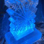 Small Snowflake Vodka Ice Luge Ice Sculpture