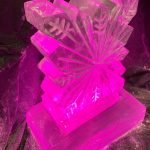 Snowflake Small Vodka Ice Luge Ice Sculpture for Kensington and Chelsea Christmas Party