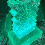 Snowflake Vodka Ice Luge Ice Sculpture for Christmas Party in Hertfordshire