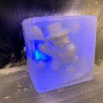 Snowman Ice Sculpture Table Centrepiece