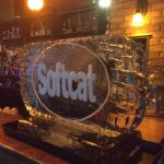 Softcat Christmas Party Ice Sculpture Vodka Luge in Bristol and Marlow