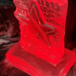 Xmas Star Vodka Ice Luge for Christmas party