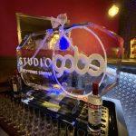 Studio Gobo Logo Vodka Ice Luge Ice Sculpture