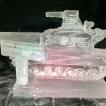 T54 Tank Ice Sculpture Vodka Luge for Cold War party