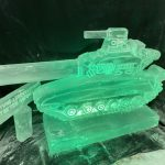 T54 Tank military theme Ice Sculpture Vodka Luge for a mess party