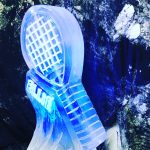 Tennis Racket Ice Sculpture Vodka Ice Luge for Wimbledon Party