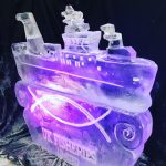 Ship Ice Sculpture ice luge for RMG Events at Greenwich Museum London