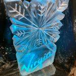 Virgin Snowflake Vodka Ice Luge Ice Sculpture