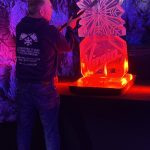 Virgin Logo Vodka Ice Luge Ice Sculpture For Virgin Holidays Christmas Party