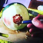 Thai Fruit Carving Watermelon