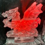 Welsh Guards Welsh Dragon military Ice Sculpture Vodka Luge in Windsore