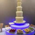 white chocolate fountain for chichester wedding