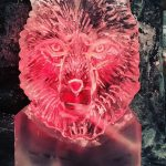 Wolf Head Ice Sculpture Vodka Ice Luge