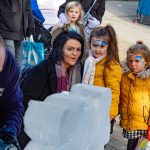 Christmas Market Live Ice Sculpture Carving Display in Hampshire