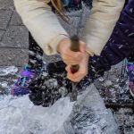 Christmas Market Live Ice Sculpture Carving Display in Surrey Christmas Market