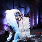 Frozen Themed Live Ice Carving Ice Show in Doha Qatar and Dubai