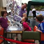 Live Ice Carving Display at West Sussex School Horsham