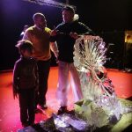 Frozen Theme Live Ice Carving Show Display in Qatar and Muscat