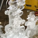 Sheffield Christmas Market Live Ice Carving Ice Sculpture Display
