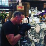 Live ice carving show for Stonewall and Gokwan at Barbican London