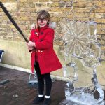 Live Ice Sculpture Display Show at Gravesend Christmas Market