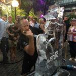 Live ice carving show Live ice carving show for Stonewall and Gokwan at Barbican London