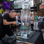 Live ice carving display show Live ice carving show for Stonewall and Gokwan at Barbican London