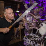 Live ice sculpture carving show for Stonewall and Gokwan at Barbican London