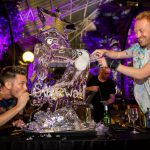 Live ice sculpture carving show for Stonewall charity at Barbican events