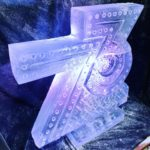 Number Ice Sculpture Vodka Ice Luge for birthday party of Ron Dennis from F1