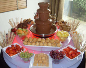 Small chocolate fountain for mess party army