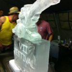105mm Gun Ice Sculpture Vodka Luge for Royal Horse Artillery Colchester