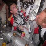 Royal Regiment of Scotland Ice Sculpture Ice Luge for Christmas Party Edinburgh