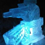 Soldier Ice Sculpture Vodka Luge for Christmas Mess Party Military