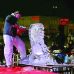 Live Ice Sculpture Carving in Doha, Qatar for Qatar 2022
