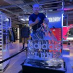 Live Ice Carving Display Show for Adidas UK Product Launch