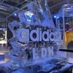 Live Ice Sculpture Display Show for Adidas London