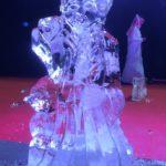 Elsa and Olaf Ice Sculpture Display in Qatar