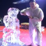 Live Ice Sculpture Carving Show in Doha Qatar for Disney Frozen Film
